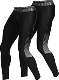 Men's Compression Pants 2 Packs Soft Cool Dry Tights Pants for Running, Workout, Training