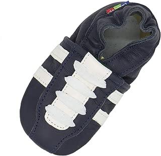 Carozoo Vache marron foncé 5-6y C2 semelle souple en cuir chaussures enfants