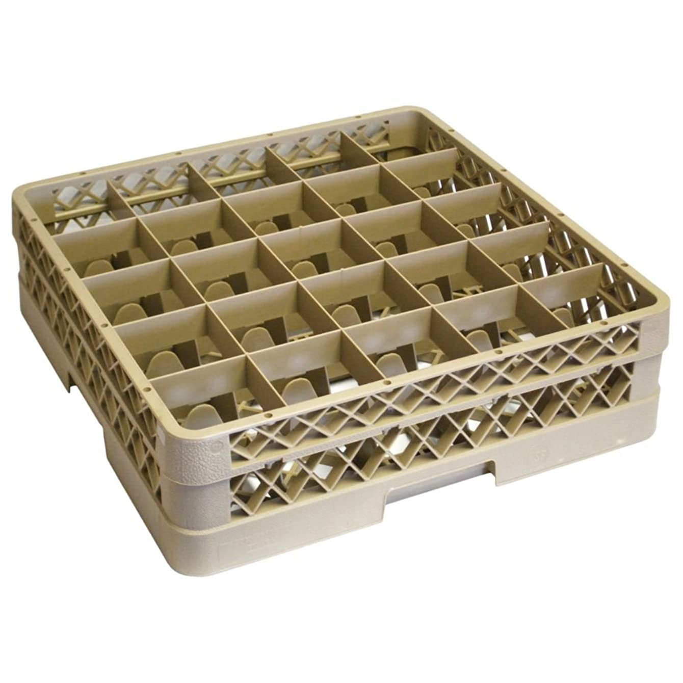 Vollrath Traex (TR6B) Full Size Glass and Stemware Rack (25-Compartment, Beige)