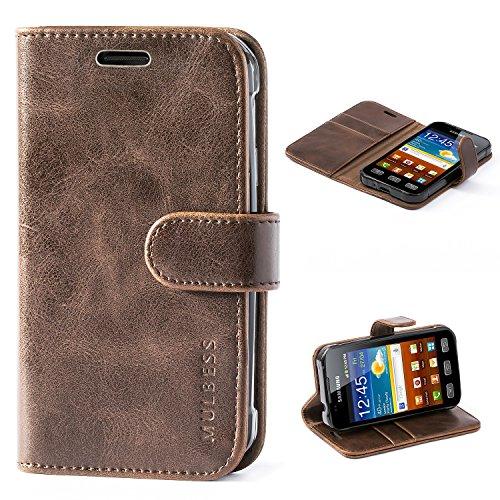 Mulbess Cover per Samsung Galaxy XCover 3, Custodia Pelle con Magnetica per Samsung Galaxy XCover 3 [Vinatge Case], caffè Marrone