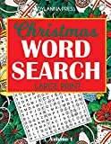 Christmas Word Search Puzzles, Large Print