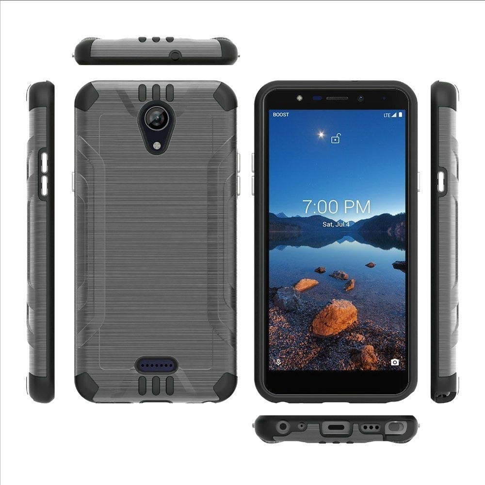 DALUX Combat Phone Case Compatible with Wiko Ride 2 / U520AS (2020) - Gray/Black