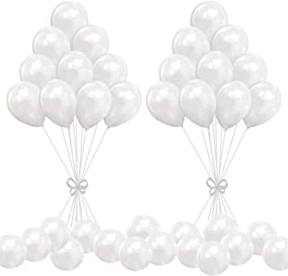 """100pcs Balloons White Latex - 10"""" Pearl White Balloon - Helium Balloons White with Tassels for Birthday Wedding Party Baby..."""