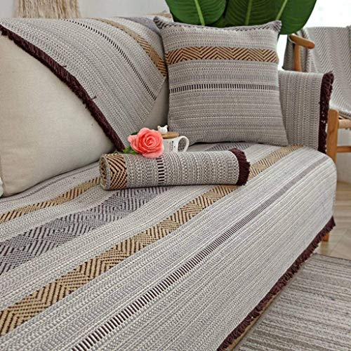Jonist Funda de Lino para sofá, Jacquard Simple y Elegante para Sala de Estar, Funda Antideslizante para Muebles, Shield-J-90X120cm