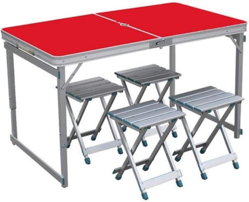 ZHANGYN Aluminum Folding Picnic Table Ad Person Inexpensive Benches Over item handling ☆ 4 with