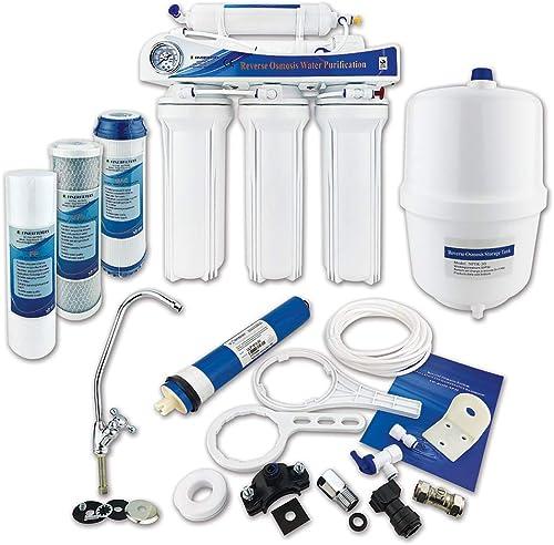 Finerfilters Système sous évier domestique, 5 étapes, osmose inverse, avec fluorure de retrait, pour le meilleur de l...
