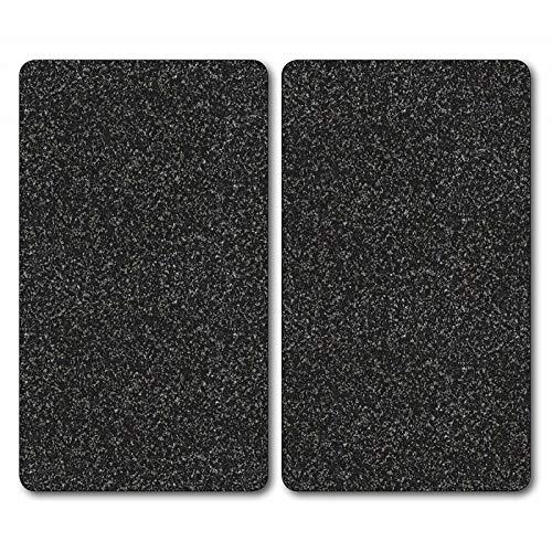 Kesper 3652213 Multi-Glasschneideplatte, 2-er Pack, Motiv: Granit, Maße: 52 x 30 x 1.2 cm