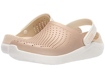 Crocs LiteRide Metallic Clog (Champagne/Oyster) Shoes