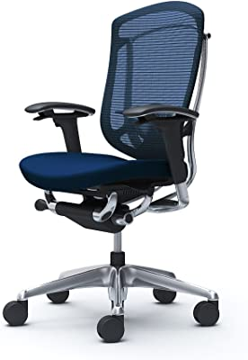 オカムラ オフィスチェア コンテッサ セコンダ 可動肘 ハイバック ウレタンキャスター仕様 クッション ダークブルー CC83XS-FPC4
