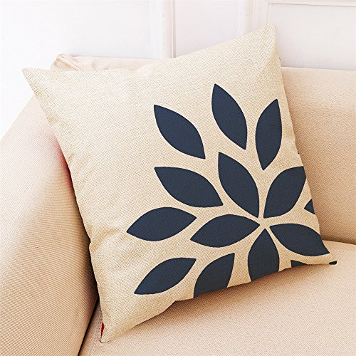 Janly Clearance Sale Pillowcase , Home Decor Cushion Cover Dark Blue Style Throw Pillowcase Pillow Covers For Car , Home & Garden (D)
