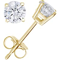 Vir Jewels 1/4 cttw Diamond Stud Earrings 14K White or Yellow Gold Push-Backs