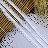 Lace Ribbon,Lace Fabric,White Color Elastic Bands 11Mm Scallops Lace Trim 8Yards/Lot Strh Ribbon Sewing Lace Tape