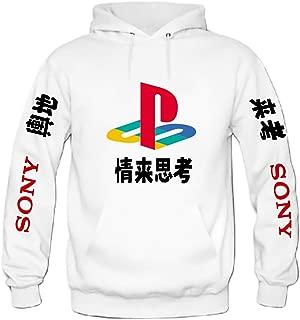 Playstation Japanese Mens Hoodie Sweatshirt Adult