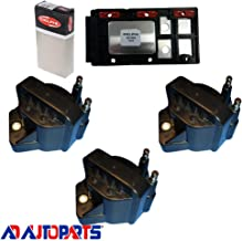 AD Auto Parts Coil Pack - DS1004 Ignition Control Module + 3 AD Auto Parts 7805-1201 Ignition Coils