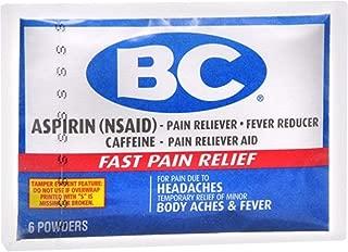 BC Original Formula Pain Relief Powders 6 Each (Pack of 12)