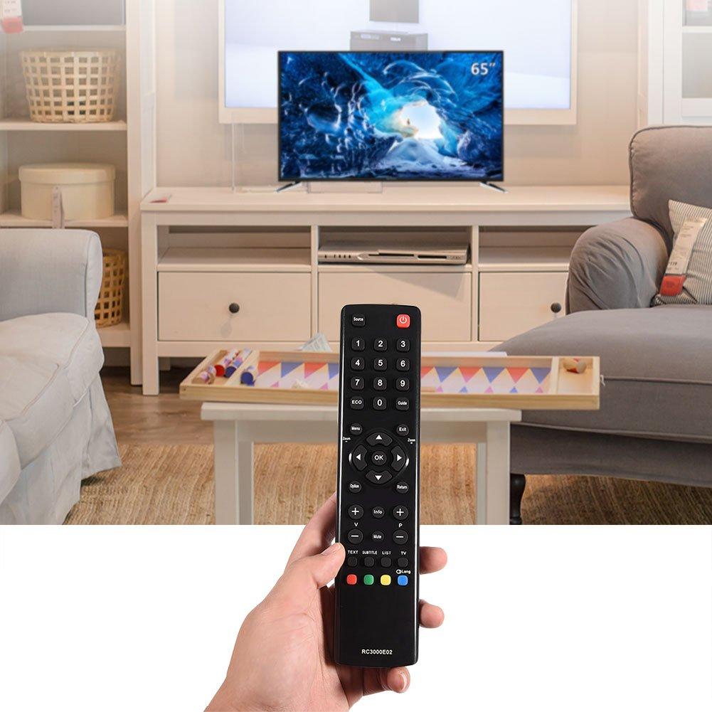 ASHATA Mando a Distancia de TV de Repuesto para TCL Mando a Distancia Universal de televisión para TV TCL RC3000E02: Amazon.es: Electrónica