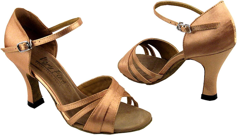 Very Fine Women's Salsa Ballroom Tango Dance shoes Style 6030 Bundle with shoes Heel Predector 3