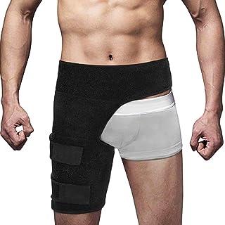 تثبیت کننده سازنده تنظیم کننده مفصل ران و هیپ بریس برای تسکین درد سیاتیک ، حمایت از فشرده سازی ساق پا و آستین برای عضلات کشیده شده ، درد مفاصل لگن ، مفاصل چهار گوش همسترینگ