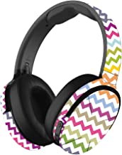 MightySkins Skin Compatible with Skullcandy Hesh 3 Wireless Headphones - Rainbow Chevron | Protective, Durable, and Unique Vinyl wrap Cover | Easy to Apply, Remove | Made in The USA