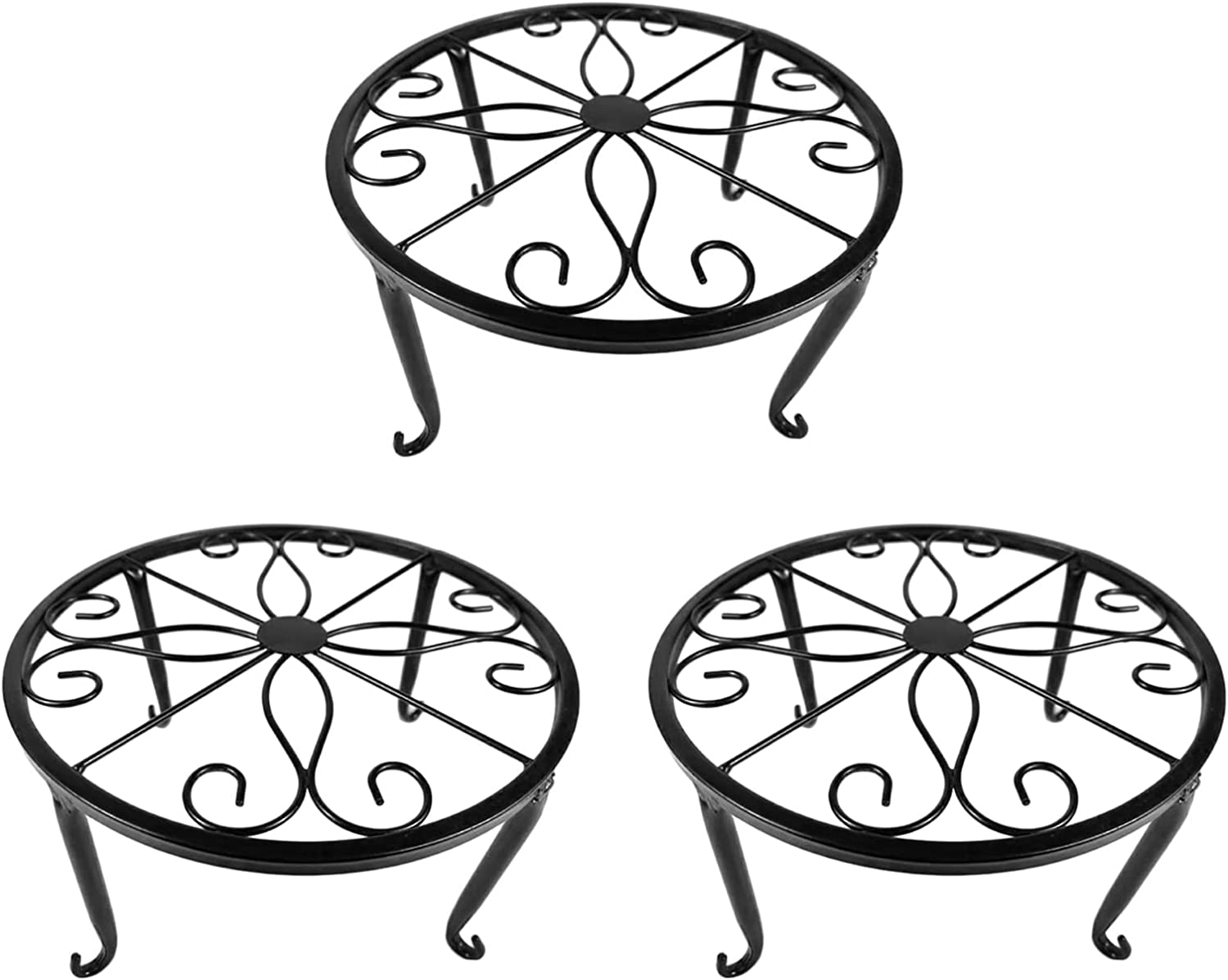 EESLL 3 Pack Metal Plant Stand Fl Iron Outdoor Ranking TOP13 Phoenix Mall Art Indoor Round