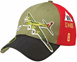 Sporty's Adjustable B-17 Flying Fortress Bomber Airplane Cap Hat Olive