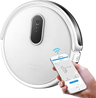 Robotic Vacuum Cleaner, COAYU C520 Robot Vacuum, 1200Pa Strong Suction, Super Thin and Quiet, WiFi App Control, Self-Charging Robot Vacuum Mapping, Cleans Pet Fur, Hard Floor to Carpet (White)