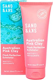 Sand & Sky Flash Perfectie Gezichtsscrubsbehandeling. Australische Roze Klei Huidreiniger