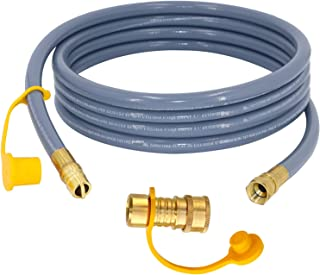 LONGADS 3/8 inch Natural Gas Hose with Quick Connect, Propane to Natural Gas Conversion Kit for Grill, Natural Gas Line Ho...