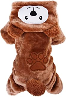 Smdoxi pet Clothing cat and Dog Autumn and Winter Bear Costume Coat Hooded Warm and Comfortable Casual Shirt
