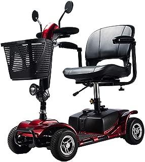 WPOSD Moto Eléctrica para Personas Mayores con 4 Ruedas, Plegable E-Scooter,Scooter Mobility Minusválidos,Peso Máximo Soportado 100Kg