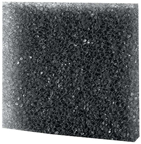 Hobby 20482 Filterschaum, schwarz grob, 50 x 50 x 2 cm, ppi 10