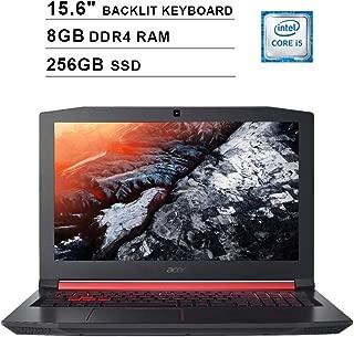 2019 Acer Nitro 5 AN515 15.6 Inch FHD Gaming Laptop (Intel Quad Core i5-8300H up to 4.0 GHz, 8GB DDR4 RAM, 256GB SSD, NVIDIA GeForce GTX 1050 Ti, Backlit Keyboard, Windows 10) (Shale Black)