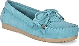 Five Tribe Women's Kind Suede Moccasin Loafer