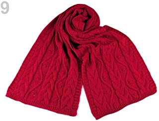 1pc Red Cable Knit Winter Shawl, Shawls and Snoods, Shawls, Scarves &, Fashion Accessories