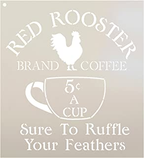 """Coffee Sign Stencil by StudioR12 