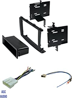 ASC Audio Car Stereo Radio Install Dash Kit, Wire Harness, and Antenna Adapter to Add an Aftermarket Radio for 2008 2009 2010 Nissan Rogue,