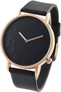 RENEE(ルネ) メンズ レディース 腕時計 シンプル デザインウォッチ 人気 (ローズゴールドxブラック) [並行輸入品]