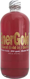 EnerGold® 10-Times-Concentrated 200-ppm Colloidal Gold - 16-Oz. Glass Bottle Tamper-Evident-Sealed