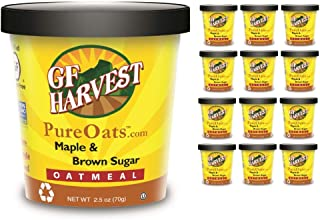 GF Harvest Pure Oats Maple & Brown Sugar Oatmeal Cups, 12 Count
