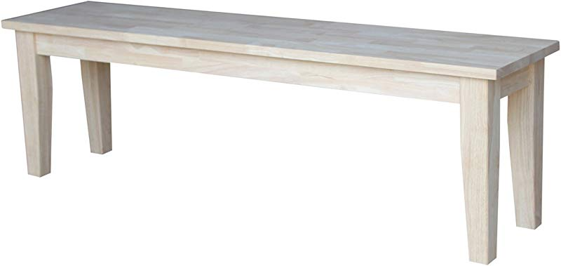 International Concepts Shaker Style Bench Unfinished