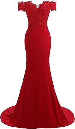 19c37d3ee21e QiJunGe Off The Shoulder Evening Party Dress Mermaid Long Bridesmaid Dresses