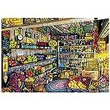 WXLSL Puzzles Rompecabezas Rompecabezas para Adultos Tienda de Frutas Tienda de comestibles 1000 Piezas Rompecabezas Igsaw Tarjeta Blanca Juguetes educativos para nios Adultos
