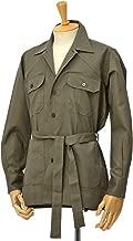 [ORIAN【オリアン】]ベルテッドサファリシャツジャケット LARMY U323 75 リネンコットン オリーブ