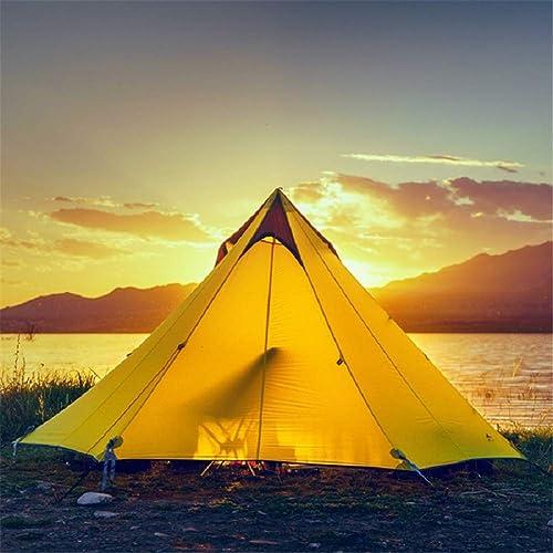 ZWYY Spacious,Anti-UVTente, extérieur Tente Camping 3-4 Personne 3 Saison Grande Tente Ultra-léger étanche Pyramide Coupe-Vent sans tentes de Perche,A,280  160CM