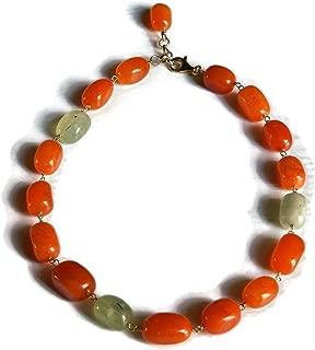 collana donna fluo arancione fucsia rame e pietre occasione