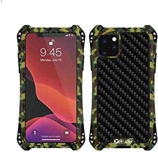 R-JUST Case for iPhone 11 Pro Max-6.5'' Extreme Aluminum Premium Shockproof/Dustproof/Water-Resistant Cell Phone Casing Cover Protection System (Camo Green, iPhone 11 Pro Max)