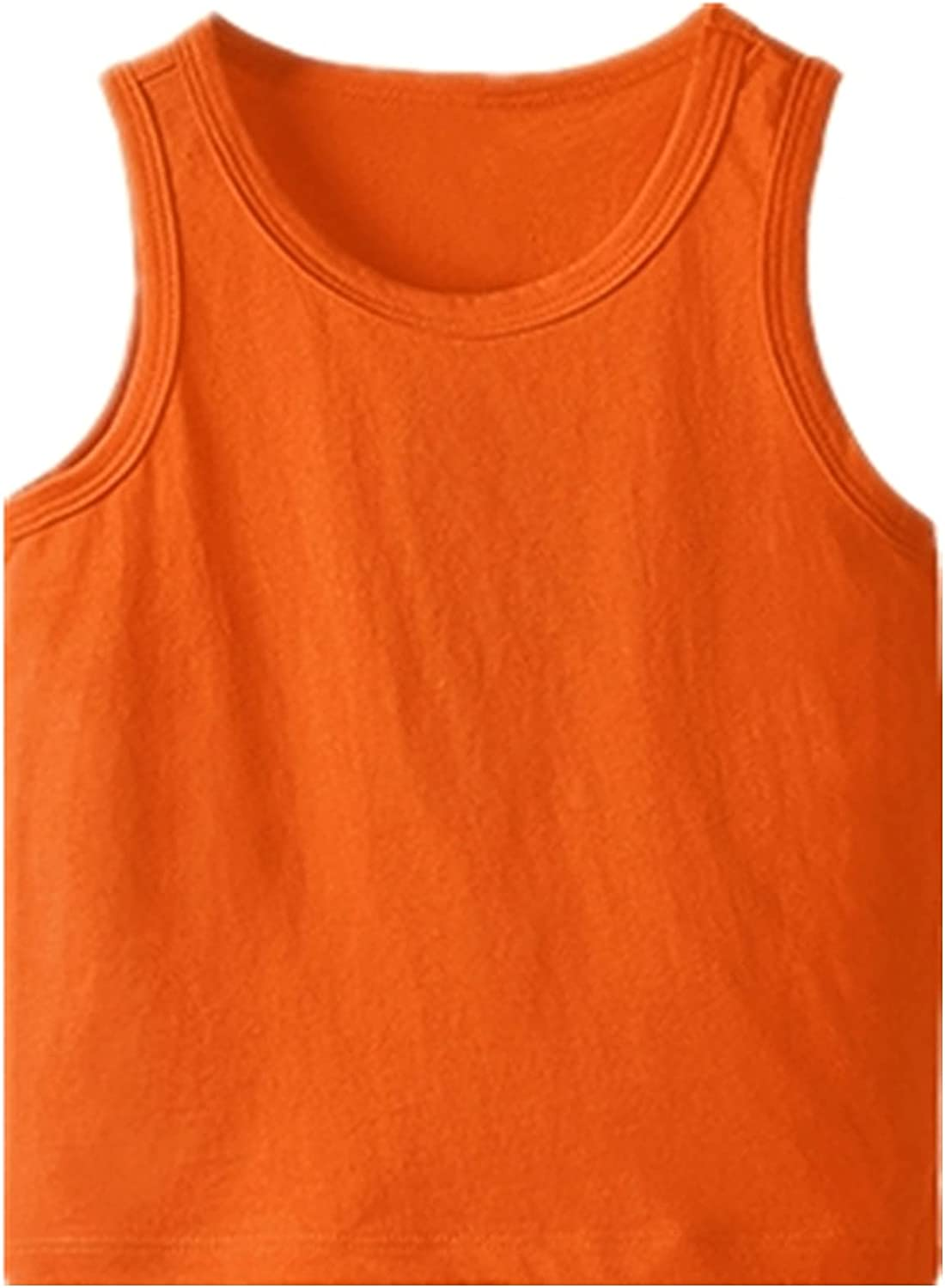 Maylofuer Little Boys Tank Top Solid Color O-Neck Summer Casual Cotton Vest Shirt