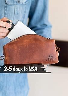 Dopp Kit Mens Toiletry Travel Bag Leather Dopp Kit Bathroom Organizer Bag for Men