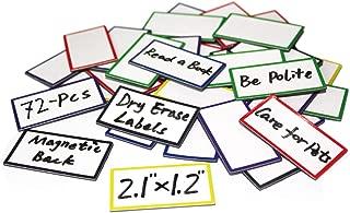 72-Pcs Magnetic Dry Erase Labels Name Plates 2.1
