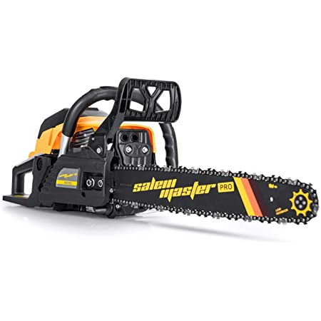 SALEM MASTER Chainsaw for Trees Gas Powered 58CC 2-Cycle Gas Chainsaw, 18-Inch Chainsaw, Handheld Petrol Gasoline Chain Saw for Farm, Garden and Ranch (5820G /18IN 58CC Chainsaw)
